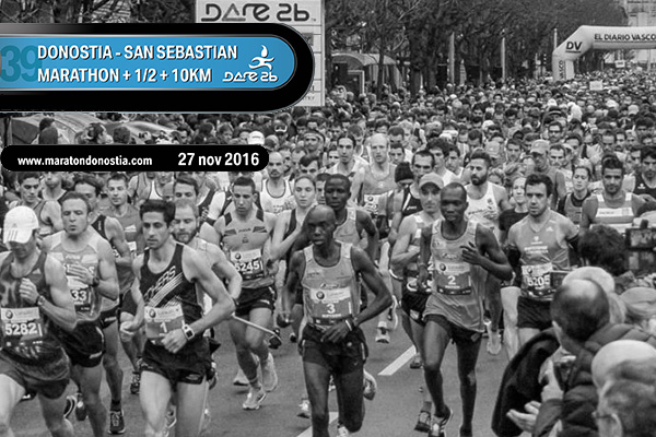 Reservas hoteleras para la Maraton de Donostia San Sebastian del 27 de noviembre