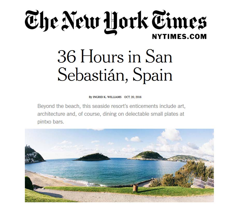 Donostia-San Sebastián en The New York Times